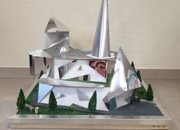 Une maquette inspirée de l'architecte Franck O' Gehry