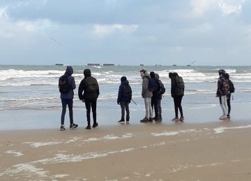 Les élèves de 3e Prépa-métiers et de 1ère SN en Normandie
