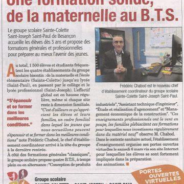 Une formation solide de la maternelle au B.T.S. || (La Presse bisontine n° 226 de mars 2021)