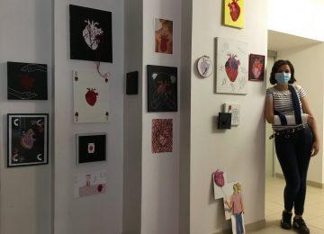 Les 3èmes exposent Le Cœur en arts plastiques
