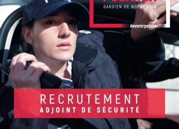 Recrutement – Adjoint de sécurité – Police nationale