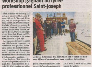 Workshop gagnant au lycée professionnel Saint-Joseph || (Est républicain du 27 janvier 2017)