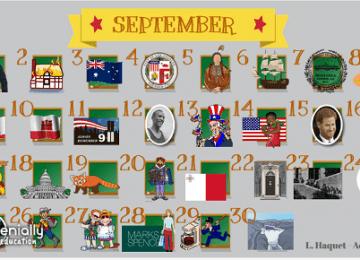 Interactive English calendar : les événements de l'année in English