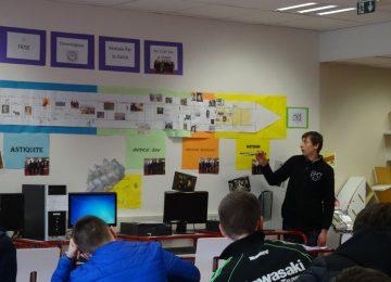 Frise chronologique élaborée par les élèves de 1ère CAP PROElec-FMMA