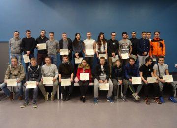 La remise des diplômes obtenus en 2017