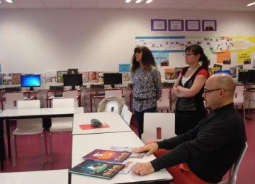François Roussel à la rencontre des élèves au CDI