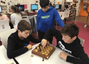 A.S. inscriptions à la rencontre d'échecs du mercredi 28 novembre