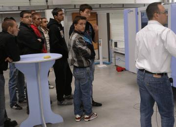 Visite de l'entreprise Homag (Tle Bac Pro ELEEC)