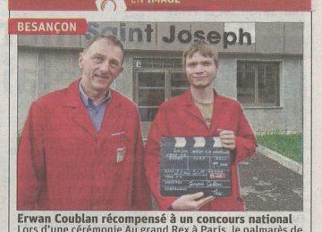 Erwan Coublanc récompensé à un concours national (Est républicain du 13 juin 2019)