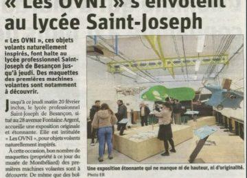 Exposition – «Les OVNI» s'envolent au lycée Saint-Joseph (Est républicain du 18 février 2020)