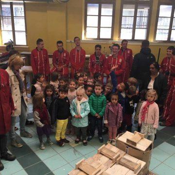 Visite des ateliers de menuiserie du Lycée Professionnel par les MS
