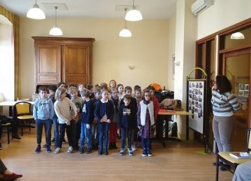Visite des CM1 à la Maison de Retraite du Centre Diocésain