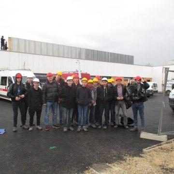 Visite de chantier du futur établissement scolaire maternelle et primaire à Pouilley-les-Vignes