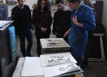 Les élèves de 1ère BMA visitent || l'Atelier d'Audrey Devaud (caserne Vauban à Besançon)