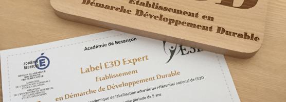 Le collège Saint Joseph labellisé E3D