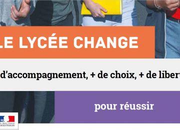 Fascicule «Le lycée change, + d'accompagnement, + de choix, + de liberté pour réussir» à destination des élèves de 3e Prépa-pro