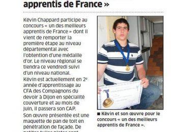 Kévin Chappard : «Un des meilleurs apprentis de France»