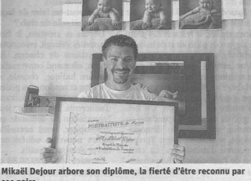 Mikaël Dejour, portraitiste (Est républicain du 16/06/2017)