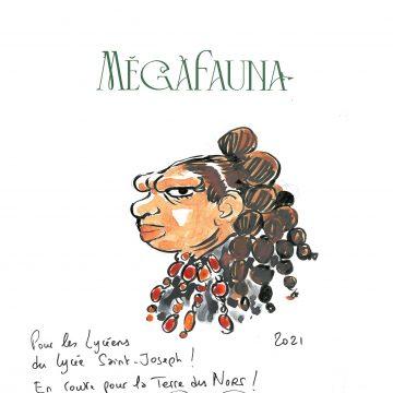 Nicolas Puzenat dédicace «MegaFauna» pour les lycéens