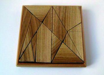 Des mathématiques à l'ébénisterie : le tangram
