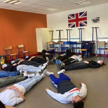 Les élèves de seconde TMA participent à un atelier théâtre dans le cadre de «Lycéens au spectacle vivant»